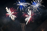 cascade stock photography | Canada, Quebec, Montmorency Falls, Loto Quebec International Fireworks Competition, image id 5-750-9358