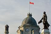 canadian flag stock photography | Canada, Quebec City, Statue of Samuel de Champlain, image id 5-750-9622