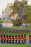 in a row stock photography | Canada, Quebec City, Changing of the Guard, Citadel, image id 5-750-9812