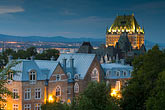 turret stock photography | Canada, Quebec City, Chateau Frontenac at night, image id 5-750-9852