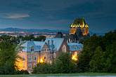 illuminated stock photography | Canada, Quebec City, Chateau Frontenac, image id 5-750-9853