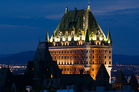 image 5-750-9859 Canada, Quebec City, Chateau Frontenac at night