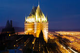illuminated stock photography | Canada, Quebec City, Chateau Frontenac, image id 5-750-9872