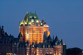 twilight stock photography | Canada, Quebec City, Chateau Frontenac, image id 5-750-9898