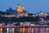 twilight stock photography | Canada, Quebec City, Chateau Frontenac, image id 5-750-9903