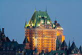 twilight stock photography | Canada, Quebec City, Chateau Frontenac, image id 5-750-9908