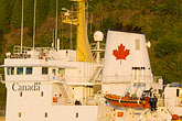 canadian flag stock photography | Canada, Quebec City, Canadian Coast Guard Ship, image id 5-750-9942