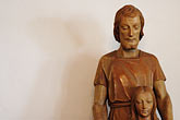 kin stock photography | Statues, Father and Child Statue, image id S4-350-1418