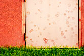 entry stock photography | New Mexico, Santa Fe, Door and Grass, image id S4-350-1749