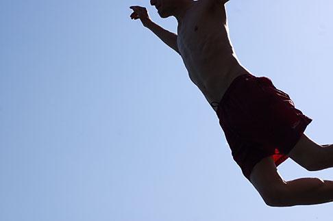 image S5-125-8624 Spain, Nerja, Man Jumping