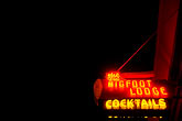 neon stock photography | California, San Francisco, Bigfoot Lodge sign, image id S5-131-9875