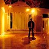 accommodation stock photography | Portraits, Man in an empty house, image id S5-162-98