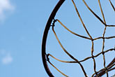 active stock photography | California, Albany, Basketball Hoop, image id S5-25-1966