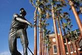 palms stock photography | California, San Francisco, SBC Park, statue of Willie Mays, image id 0-501-72