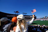 american and california flags stock photography | California, San Francisco, SBC Park, SF Giants