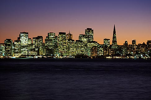 image 2-240-6 California, San Francisco Bay, San Francisco skyline from Treasure Island