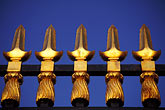 pointy stock photography | California, Gold, wrought iron fence, image id 2-33-31