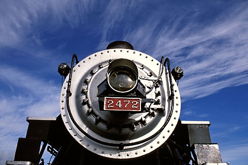 image 2-710-3 California, San Francisco Bay, Golden Gate Railroad Museum, SP locomotive 2472