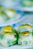 close up stock photography | Food, Dim Sum, Shrimp and chive dumplings, image id 3-1010-43