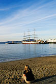 sailing ship stock photography | California, San Francisco, GGNRA, Aquatic Park, image id 3-1011-43