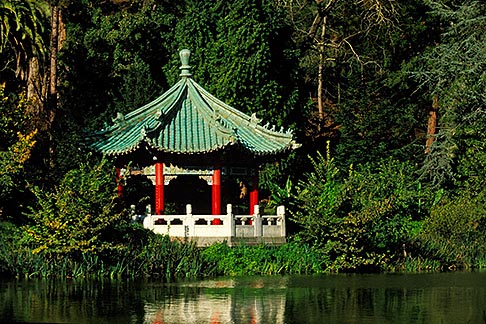 image 3-1012-58 California, San Francisco, Golden Gate Park, Stow Lake, Chinese pavilion