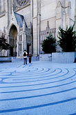 pedestrian stock photography | California, San Francisco, Grace Cathedral, Labyrinth, image id 3-1013-28