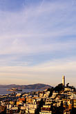 hazy stock photography | California, San Francisco, Telegraph Hill, Coit Tower, image id 3-1013-76