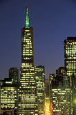 city skyline stock photography | California, San Francisco, Transamerica building at night, image id 3-1014-35