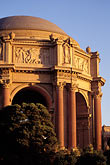 sunset stock photography | California, San Francisco, Palace of Fine Arts, image id 3-189-7