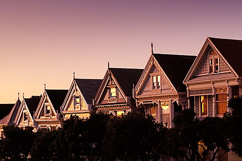 image 3-194-32 California, San Francisco, Victorian houses, Steiner Street
