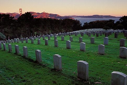 image 4-524-4 California, San Francisco, Military Cemetery, Presidio, GGNRA