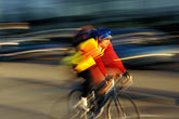 blurred motion stock photography | California, San Francisco, Bicyclist, image id 4-991-1