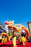 colour stock photography | California, San Francisco, Chinese Dragon Dance, image id 5-620-9915