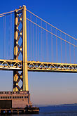 suspension bridge stock photography | California, San Francisco, SF Oakland Bay Bridge, image id 7-462-43