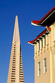 contrary stock photography | California, San Francisco, Transamerica building from Chinatown, image id 8-419-25