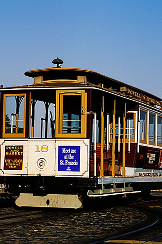 image 8-478-66 California, San Francisco, Hyde Street Cable Car