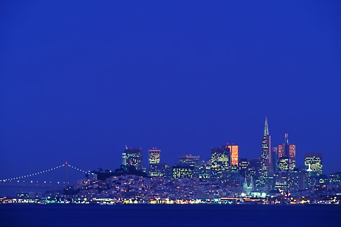 image 9-168-47 California, San Francisco, Downtown skyline at night