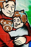 father and child stock photography | California, San Francisco, Graffiti, image id S4-311-037