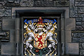 architectural detail stock photography | Scotland, Edinburgh, Edinburgh Castle, coat of arms, image id 1-510-92