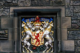 architectural detail stock photography | Scotland, Edinburgh, Edinburgh Castle, coat of arms, image id 1-510-94