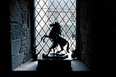 window pane stock photography | Scotland, Angus, Glamis Castle, lion statue, image id 1-521-58