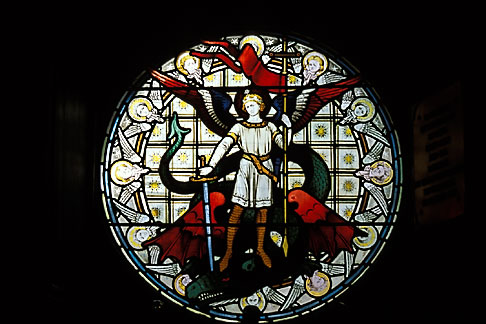 image 1-522-37 Scotland, Angus, Glamis Castle, Chapel, stained glass