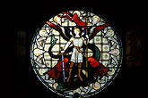 round stock photography | Scotland, Angus, Glamis Castle, Chapel, stained glass, image id 1-522-37