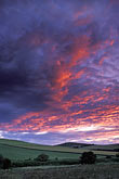pink sky stock photography | Scotland, Aberdeenshire, Evening light on fields, image id 1-537-7