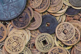 change money stock photography | China, Old coins in market, image id 7-620-101