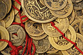 change money stock photography | China, Old coins in market, image id 7-620-105