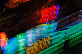 blue stock photography | China, Shanghai, Neon lights at night, Pudong, image id 7-620-3055
