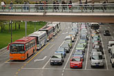 busses stock photography | China, Shanghai, Traffic on city street, image id 7-620-3448