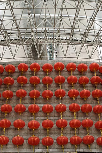 image 7-620-3583 China, Shanghai, Red Chinese lanterns