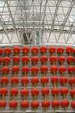 in a row stock photography | China, Shanghai, Red Chinese lanterns, image id 7-620-3583